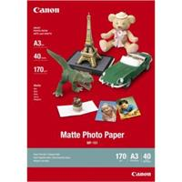 Canon Matte Photo Paper, foto papír, matný, bílý, A3, 297x420mm (A3), 170 g/m2, 40 ks, MP-101 A3