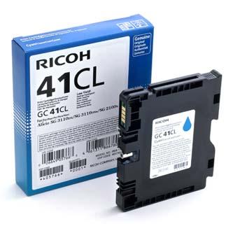 Inkoust Ricoh GC41C (405766) - originální | gelový , azurový