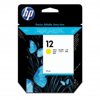 HP C4806A - originální žlutý inkoust HP 12, 3300 str. - expirovaný