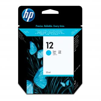 HP C4804A - originální azurový inkoust HP 12, 300 str. - expirovaný