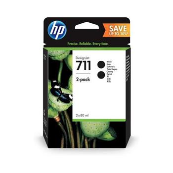 HP P2V31A - originální černá inkoustová náplň No.711 pro HP Designjet T120 ePrinter, T520 ePrinter