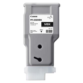 Canon 5302B001 - originální inkoustová náplň matte black PFI-206MBK pro Canon iPF-6400,iPF-6450 (300 ml)