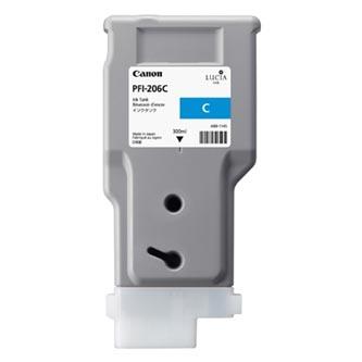 Canon 5304B001 - originální azurová inkoustová náplň PFI-206C pro Canon iPF-6400,iPF-6450 (300 ml)