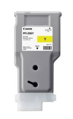 Canon 5356B001 - originální inkoustová náplň yellow PFI-206Y pro Canon iPF-6400,iPF-6450 (300 ml)