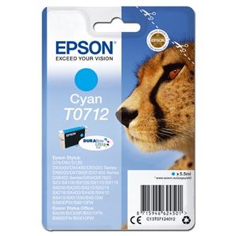 Epson C13T07124012 - originální azurová inkoustová náplň pro Epson D78, DX4000, DX4050, DX5000