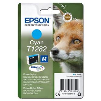 Epson C13T12824012 - originální azurová inkoustová náplň T1282 pro Epson Stylus S22, SX125, 420W, 425W, Stylus Office BX305 (3,5 ml)