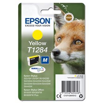 Epson C13T12844012 - originální žlutá inkoustová náplň T1284 pro Epson Stylus S22, SX125, 420W, 425W, Stylus Office BX305 (3,5 ml)