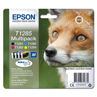 Epson C13T12854012 - originální sada inkoustových náplní CMYK T1285 pro Epson Stylus S22, SX125, 420W, 425W, Stylus Office BX305 (16,4 ml)