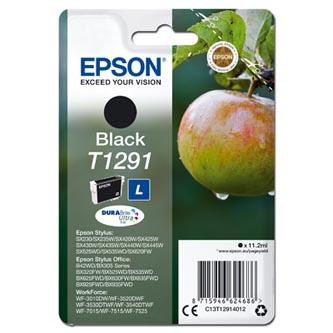 Epson C13T12914012 - originální černá inkoustová náplň T1291 pro Epson Stylus SX420W, 425W, Stylus Office BX305F, 320FW (385 stran, 11,2 ml)
