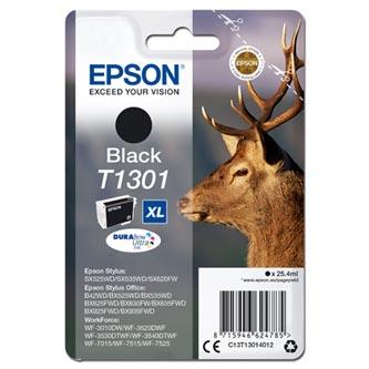 Epson C13T13014012 - originální černá inkoustová náplň T1301XL pro Epson Stylus Office BX625FWD (945 stran, 25,4 ml)