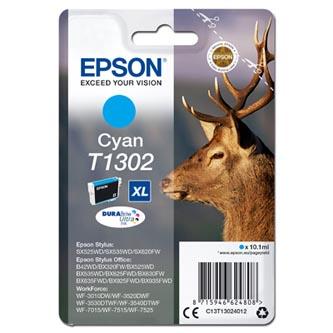 Epson C13T13024012 - originální azurová inkoustová náplň T1302XL pro Epson Stylus Office BX320FW (765 stran, 10,1 ml)