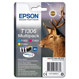 Epson C13T13064012 - originální sada inkoustových náplní CMY T1306 XL pro Epson Stylus Office BX320FW (30,3 ml)