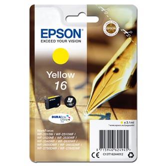 Epson C13T16244012 - origináln žlutá inkoustová náplň T162440 pro Epson WorkForce WF-2540WF, WF-2530WF, WF-2520NF, WF-2010 (3,1 ml)