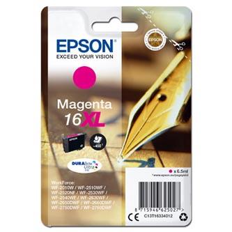 Epson C13T16334012 - originální purpurová náplň T163340, 16XL pro Epson WorkForce WF-2540WF, WF-2530WF, WF-2520NF, WF-20 (6,5 ml)