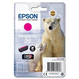 Epson C13T26134012 - originální purpurová náplň T261340 pro Epson Expression Premium XP-800, XP-700, XP-600, 4,5 ml