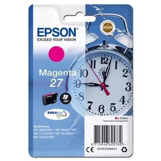 Epson C13T27034012 - originální purpurová inkoustová náplň 27 pro Epson WF-3620, 3640, 7110, 7610, 7620
