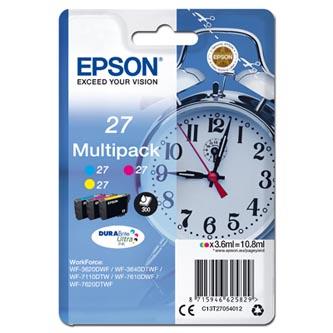Epson C13T27054012 - originální sada barevných náplní 27 (3 x 3,6 ml) pro Epson WF-3620, 3640, 7110, 7610, 7620