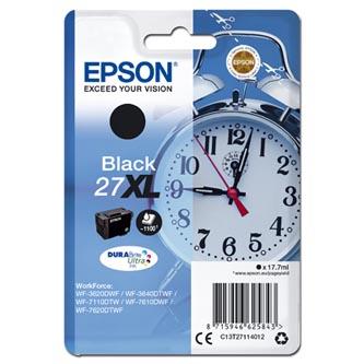 Epson C13T27114012 - originální černá inkoustová náplň 27XL pro Epson WF-3620, 3640, 7110, 7610, 7620 (17,7 ml)