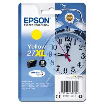 Epson C13T27144012 - originální žlutá inkoustová náplň 27XL pro Epson WF-3620, 3640, 7110, 7610, 7620 (10,4 ml)