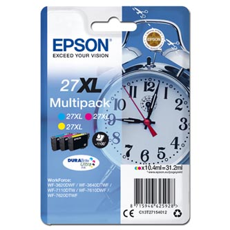 Epson C13T27154012 - originální sada barevných náplní 27XL (3 x 10,4 ml) pro Epson WF-3620, 3640, 7110, 7610, 7620