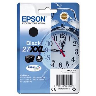 Epson C13T27914012 - originální černá inkoustová náplň 27XXl pro Epson WF-3620, 3640, 7110, 7610, 7620 (34,1 ml)
