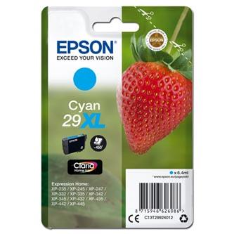 Epson C13T29924012 - originální azurová inkoustová náplň T29XL pro Epson Expression Home XP-235,XP-332,XP-335,XP-432,XP-435 (6,4 ml)