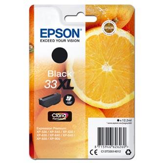 Epson C13T33514012 - originální černá inkoustová náplň T33XL pro Epson Expression Home a Premium XP-530,630,635,830