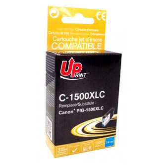 Canon C-1500XLC - kompatibilní azurová inkoustová náplň PGI 1500XL pro Canon MAXIFY MB2050, MB2350 ( 1050 stran, 14 ml)