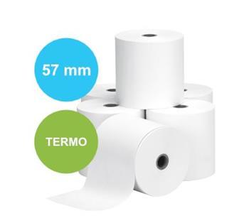 Pokladní kotouček termo 57/30 mm, návin 12 m, bez dutinky (v balení 50 ks)