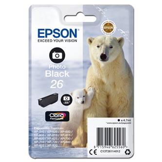 Epson C13T261140 - originální inkoust, Foto černá, 4,7ml.