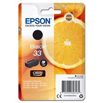 Epson C13T33314012 - originální inkoust, černý, 6,4ml.