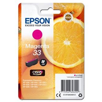 Epson C13T334340 - Originální inkoust, purpurová, 4,5ml