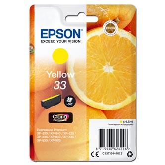 Epson C13T334440 - Originální, žlutý, 4,5ml.