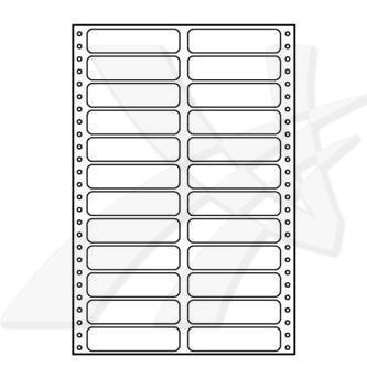 Logo 32108, tabelační etikety 89 x 23.4 mm, A4, dvouřadé, bílé, 24 etikety, baleno po 25 ks, pro jehličkové tiskárny
