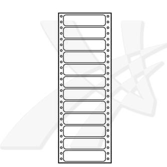 Logo 32102 - Tabelační etikety 89 x 23.4 mm, A4, jednořadé, bílé, 12 etiket, baleno po 25 ks, pro jehličkové tiskárny