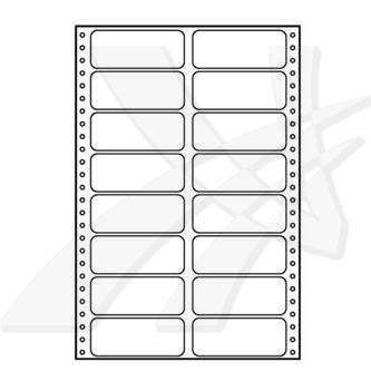 Logo 32110 - tabelační etikety 89 x 36.1 mm, A4, dvouřadé, bílé, 16 etiket, baleno po 25 ks, pro jehličkové tiskárny