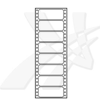 Logo 32104 - Tabelační etikety 89 x 36.1 mm, A4, jednořadé, bílé, 8 etiket, baleno po 25 ks, pro jehličkové tiskárny