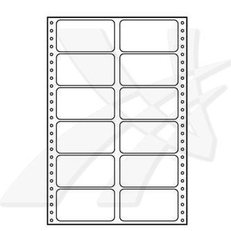 Logo 32111 - tabelační etikety 89 x 48.8 mm, A4, baleno po 10 ks, pro jehličkové tiskárny