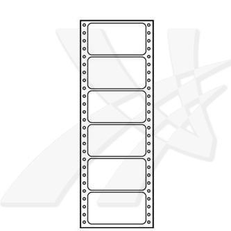 Logo 32106 - Tabelační etikety 89 x 48.8 mm, A4, jednořadé, bílé, 6 etiket, baleno po 25 ks, pro jehličkové tiskárny