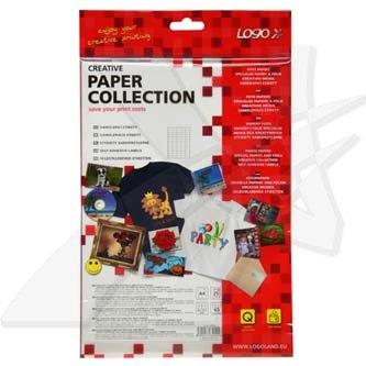Logo 32202 - etikety 38 x 21.2 mm, A4, matné, bílé, 140g/m2, baleno po 25 ks, pro inkoustové a laserové tiskárny
