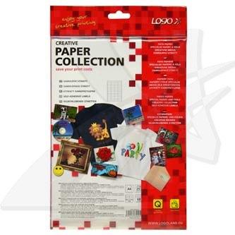 Logo 32204 - etikety 48.5 x 16.9 mm, A4, matné, bílé, 68 etiket, 140g/m2, baleno po 25 ks, pro inkoustové a laserové tiskárny