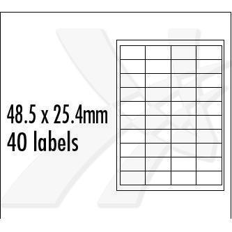 Logo 32253 - etikety 48.5 x 25.4 mm, A4, matné, červené, 40 etiket, baleno po 10 ks, pro inkoustové a laserové tiskárny