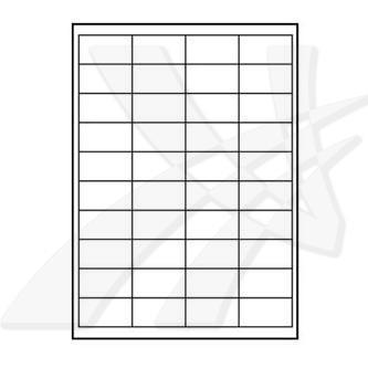 Logo 32205 samolepící matné bílé etikety 48.5 x 25.4 mm, A4, 140g/m2, baleno po 10 ks, pro inkoustové a laserové tiskárny