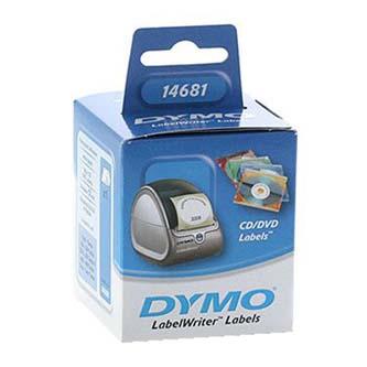 Dymo 14681 - etikety na CD 57mm, bílé, 160 ks, 14681, S0719250