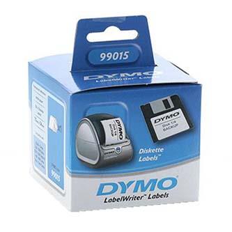 Dymo papírové štítky 70mm x 54mm, bílé, na diskety, 320 ks, 99015, S0722440