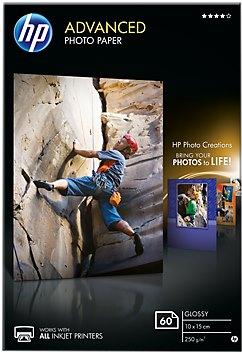 HP Photo Paper Glossy Advanced, 60 ks, 100 x 150 mm, 250 g/m2, Q8008A