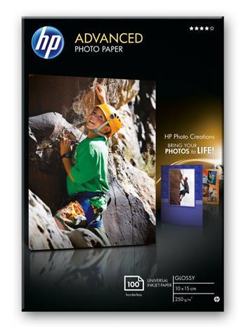 HP Photo Paper Glossy Advanced, 100 ks, 100 x 150 mm, 250 g/m2, Q8692A