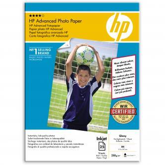 HP Photo Paper Glossy Advanced, A4, 25 ks, 210 x 297 mm, 250 g/m2, Q5456A