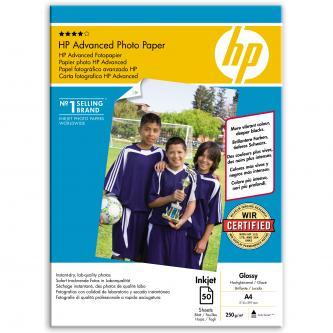 HP Photo Paper Glossy Advanced, A4, 50 ks, 210 x 297 mm, 250 g/m2, Q8698A