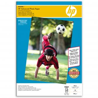 HP Photo Paper Glossy Advanced, A3, 20 ks, 297 x 420 mm, 250 g/m2, Q8697A